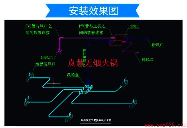 火锅店排烟系统安装图(图1)