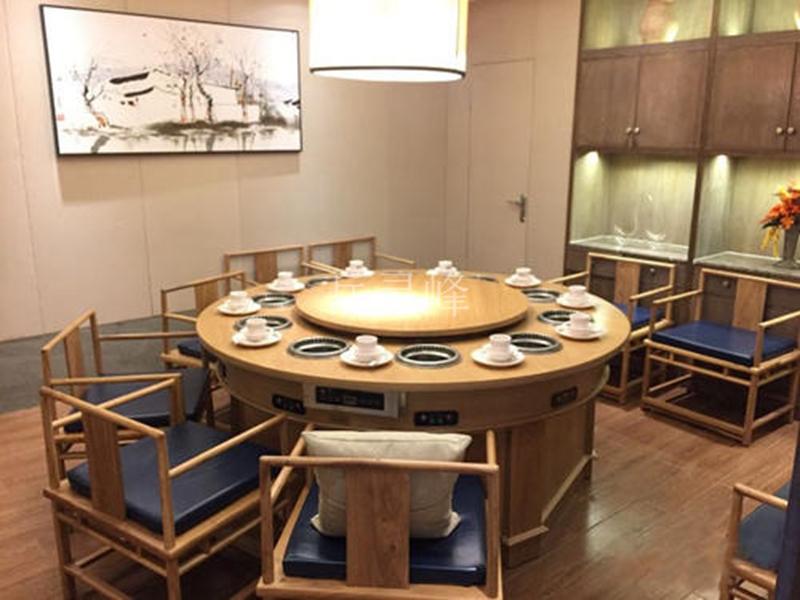 无烟火锅桌哪种好,肯定是大理石无烟火锅桌