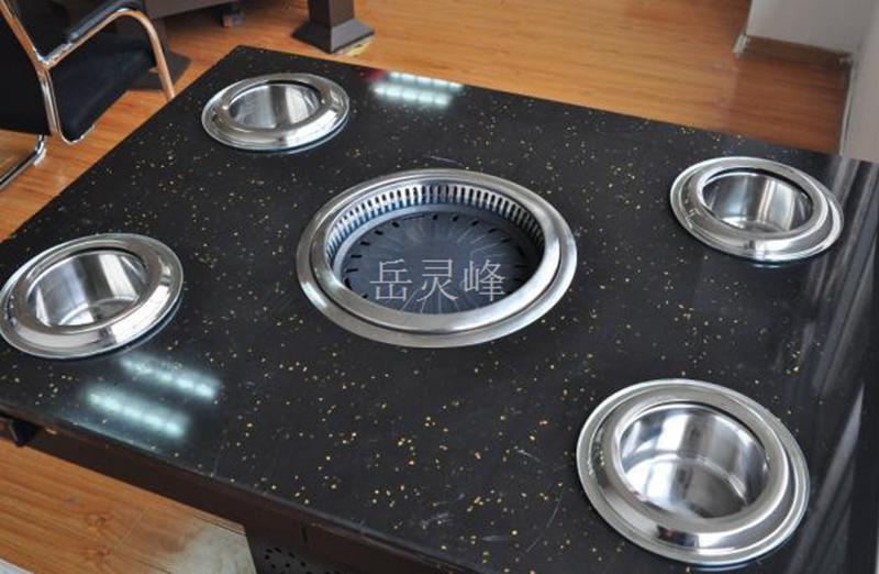无烟火锅桌子带电磁炉设计效果图中不可缺少的无烟火锅