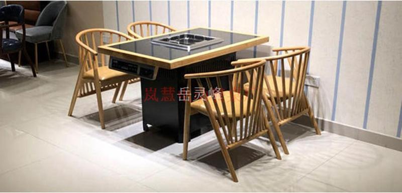 岳灵峰制品,西餐厅桌椅,西餐厅去烟味空气净化器