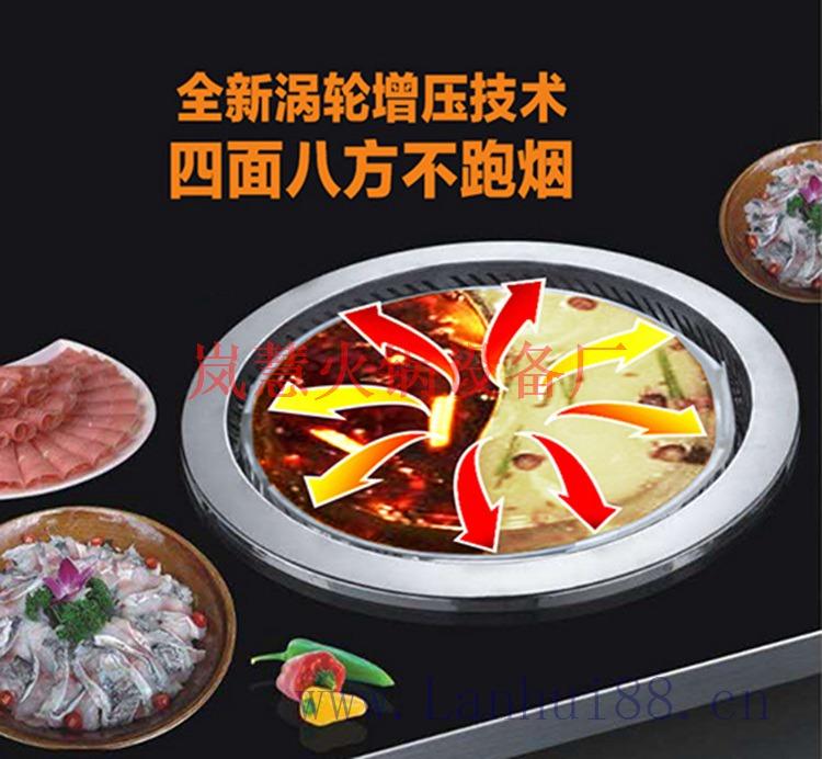 重庆直销无烟火锅桌(www.sms025.com)