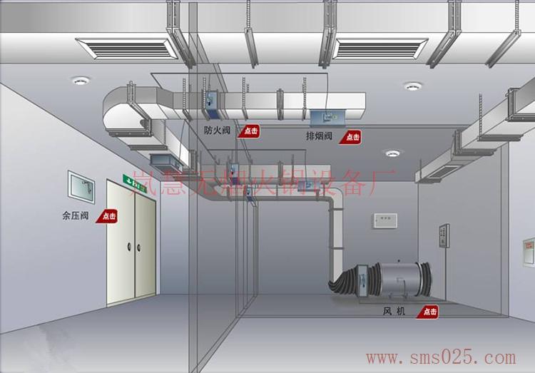huoguo店大厅排风系统图(www.sms025.com)